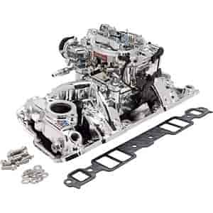 Edelbrock 20244 - Edelbrock Single-Quad Intake Manifold and Carb Kits
