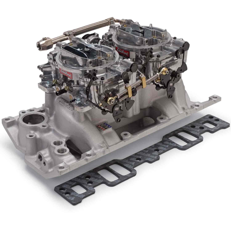 Edelbrock 2026 Dual-Quad Manifold And Carb Kit