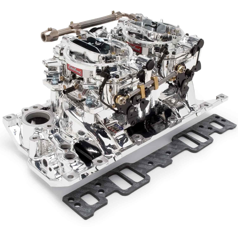 Edelbrock 20264: RPM Dual-Quad Manifold & Carb Kit For SBC