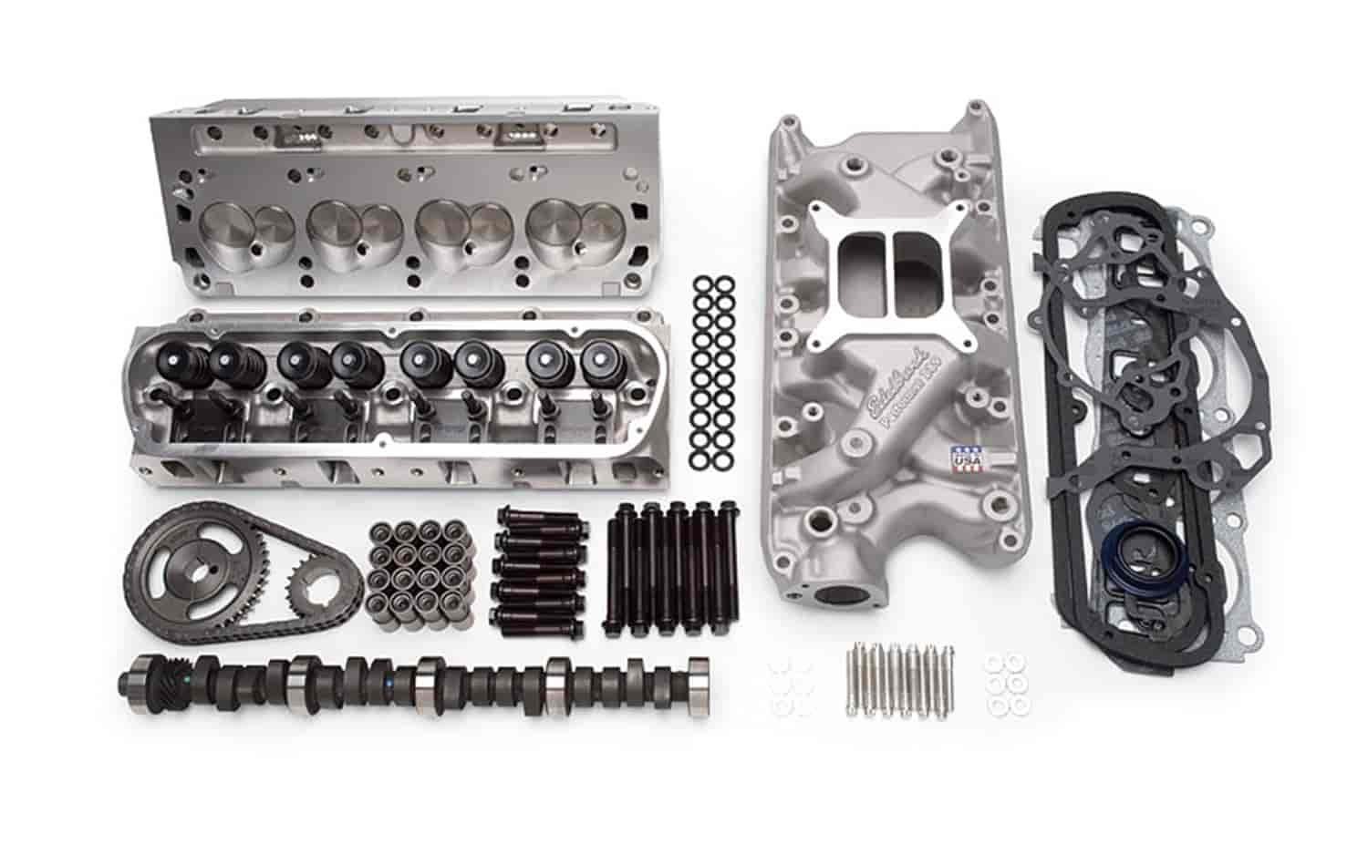 Edelbrock 2019 Rpm Power Package Top End Kit Small Block: Edelbrock 2027: E-Street Power Package Top End Kit For