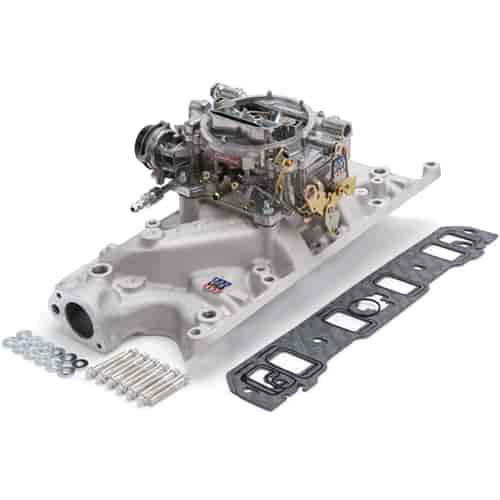 Edelbrock 2031 - Edelbrock Single-Quad Intake Manifold and Carb Kits