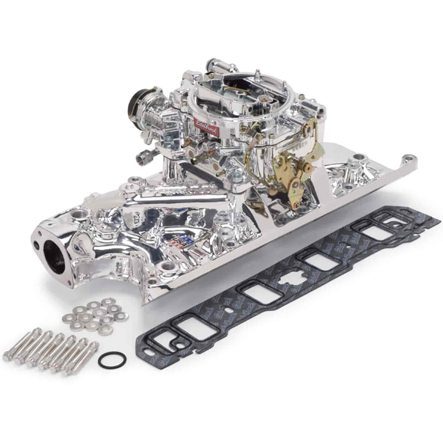 Edelbrock 20314 - Edelbrock Single-Quad Intake Manifold and Carb Kits