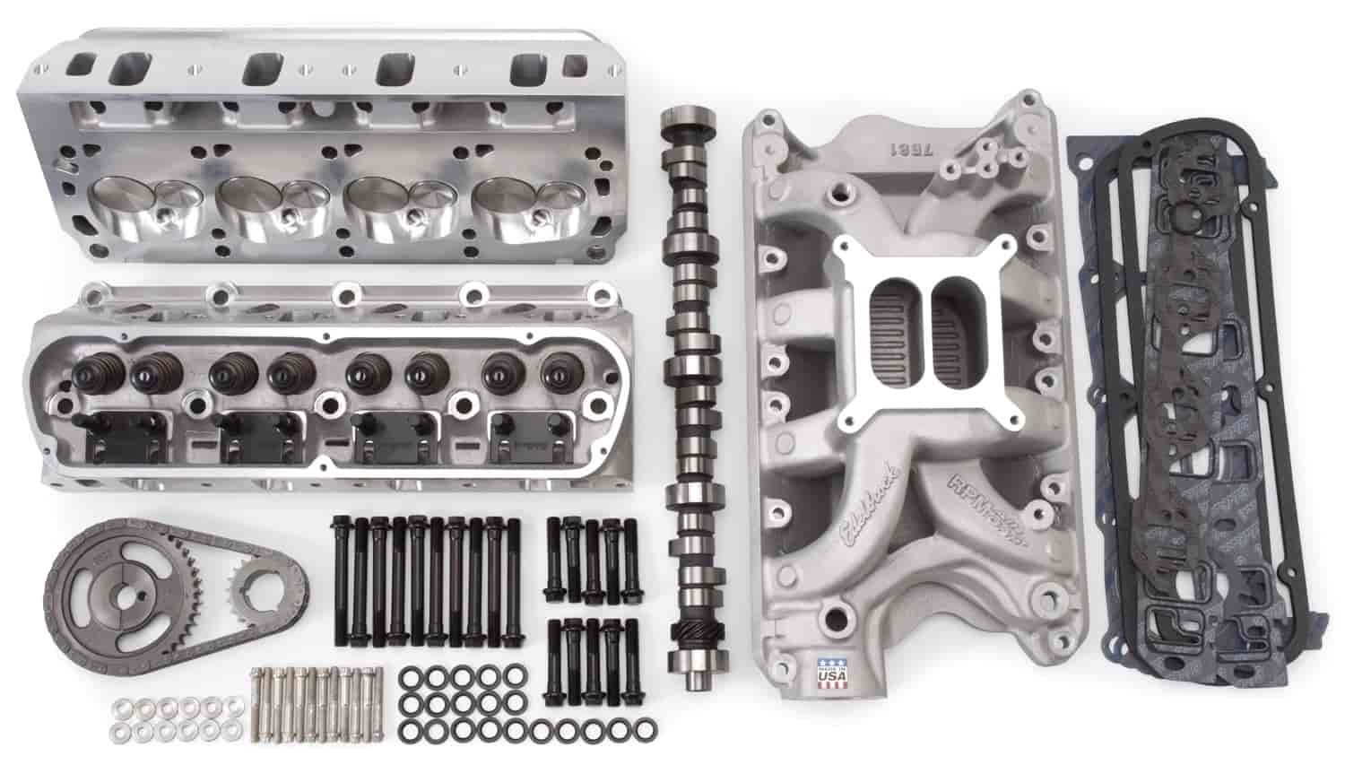 Edelbrock RPM Power Package Top End Kit for E-Boss Small Block Ford 302  with Cleveland Heads