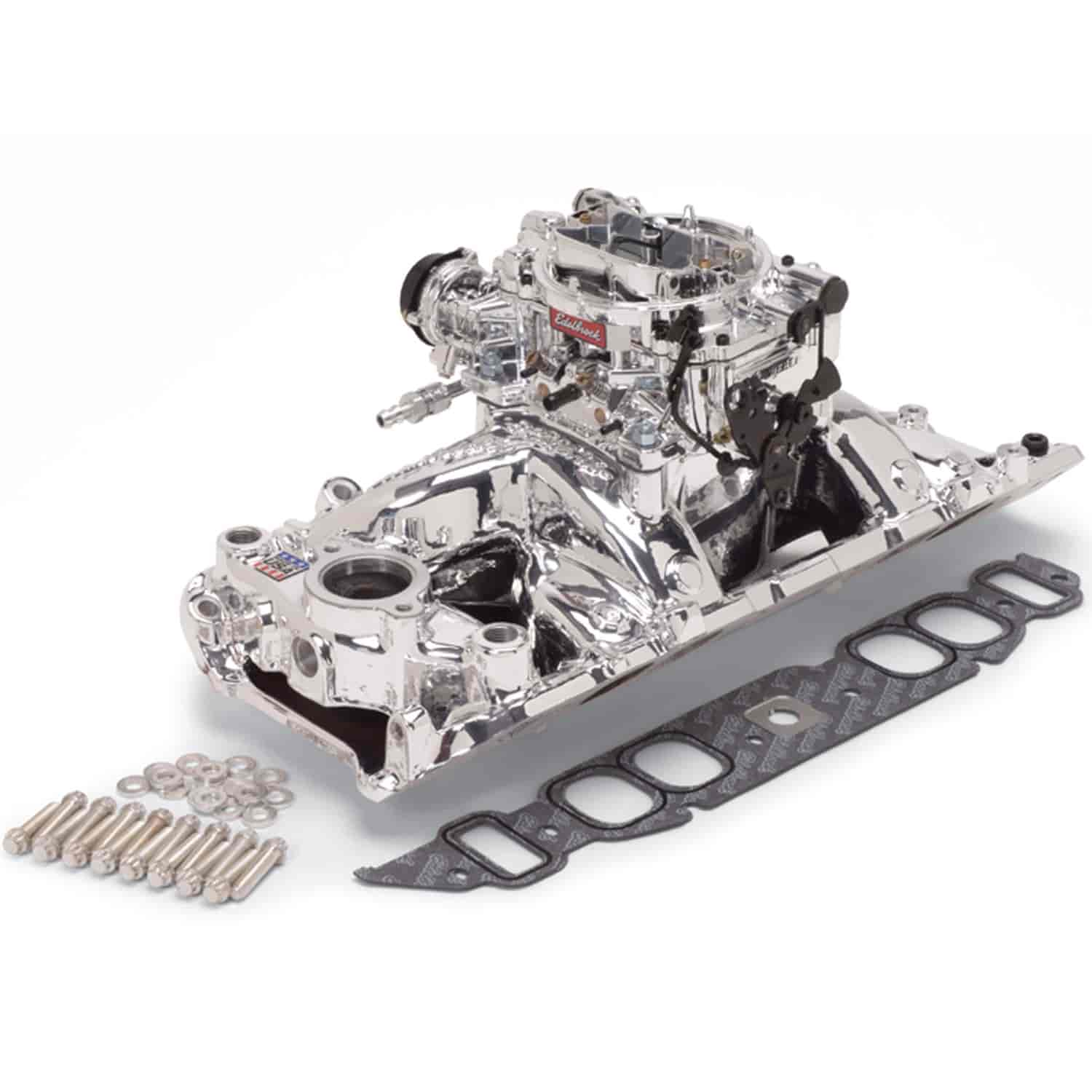 Edelbrock 20634 - Edelbrock Single-Quad Intake Manifold and Carb Kits