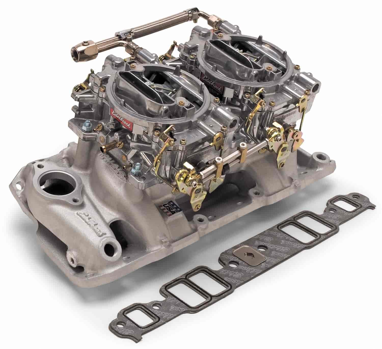 Edelbrock Throttle Linkage Kit Progressive Dual Quad Side Mount Universal Kit