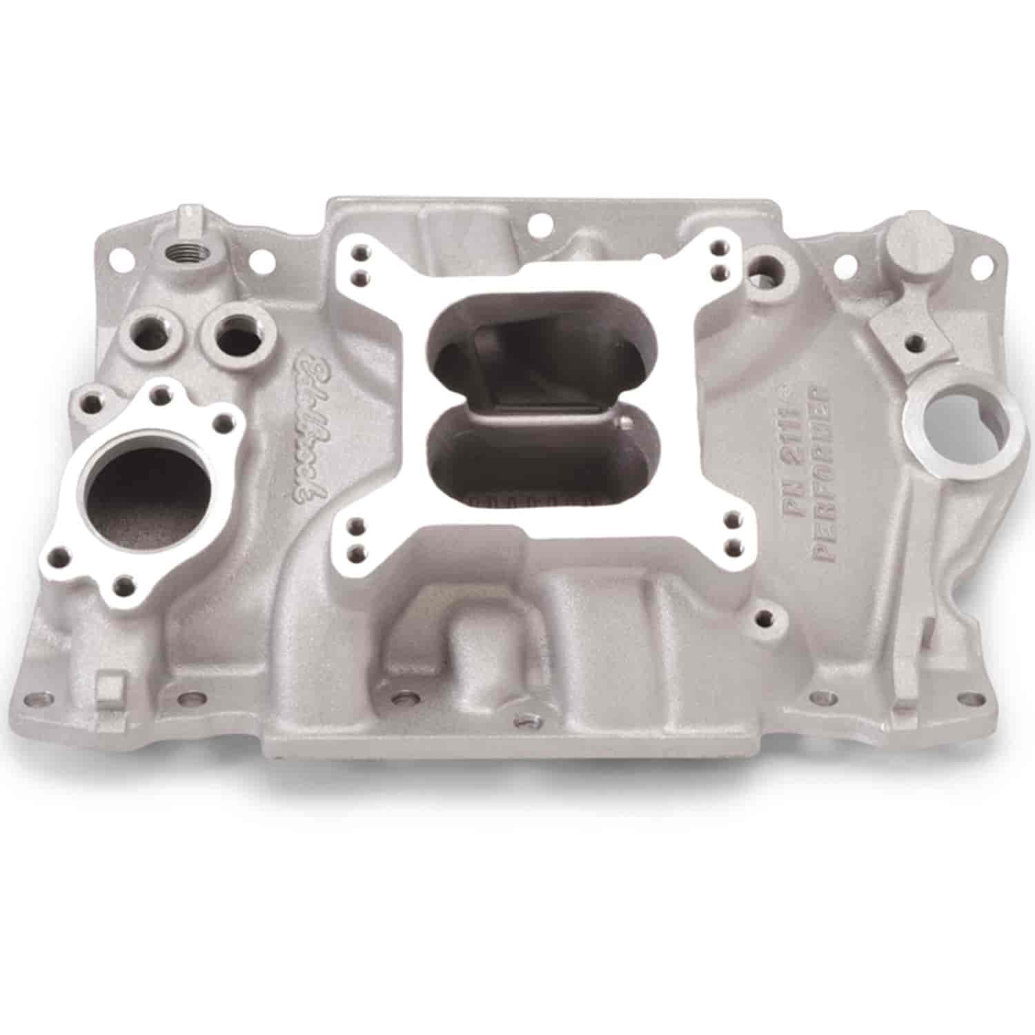 Edelbrock 2111 Performer 90 V6 Chevy Intake Manifold Jegs 350 Alternator Bracket Diagram Car Tuning