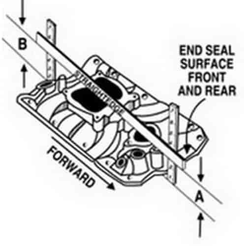 Edelbrock 21141 Performer Vortec V6 Chevy Intake Manifold Polished