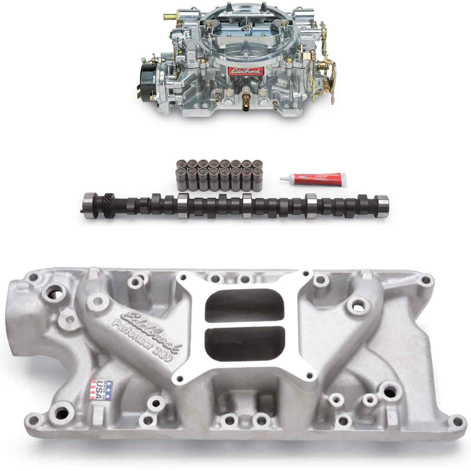 Edelbrock Performer Power Package Intake Manifold, Carburetor and Camshaft  Kit Small Block Ford 260-289-302ci