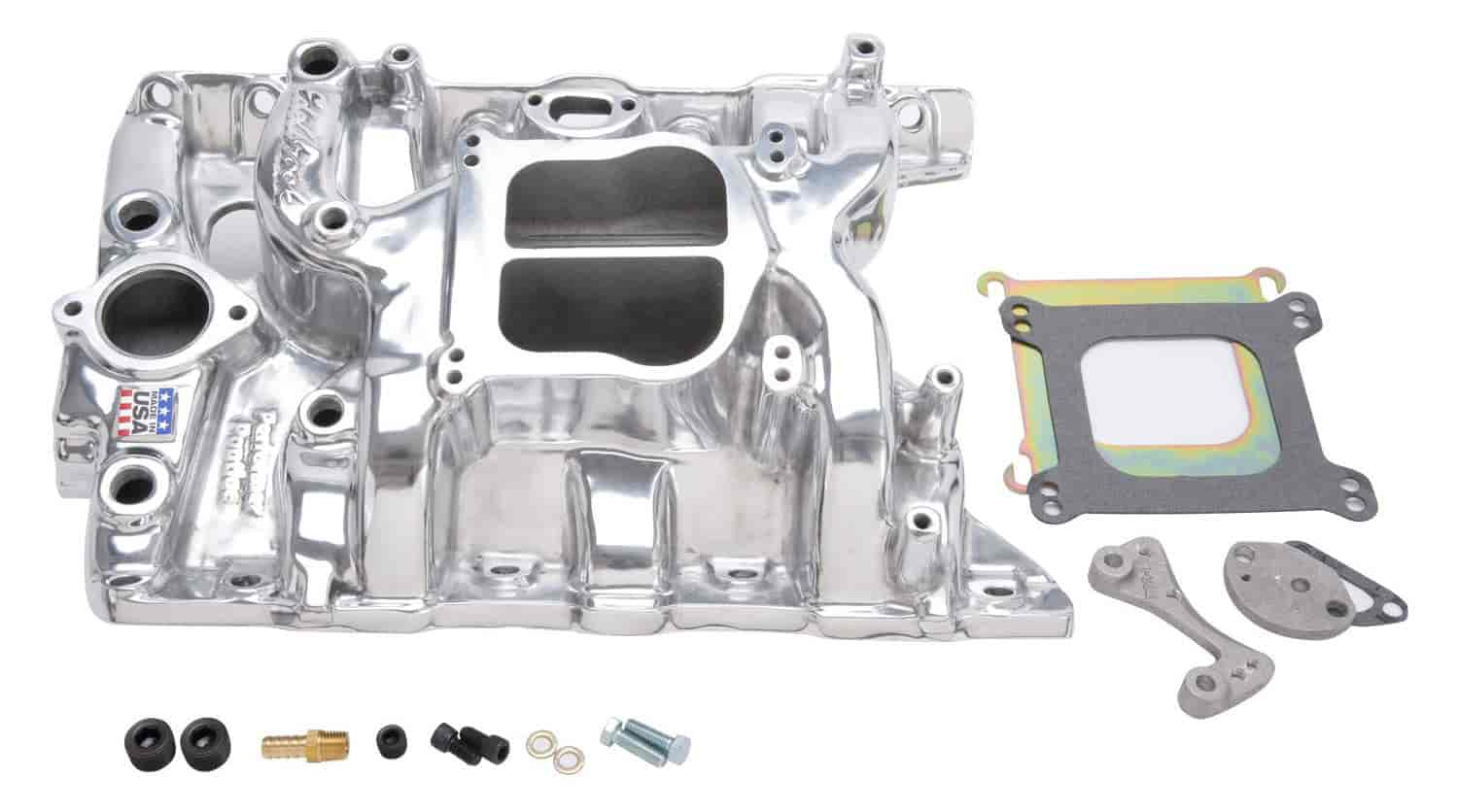 Edelbrock 21561 - Edelbrock Performer Manifolds for Pontiac
