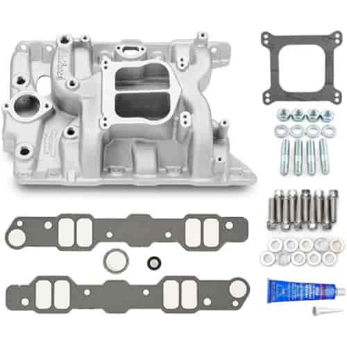 Edelbrock Performer Pontiac Intake Manifold with Installation Kit