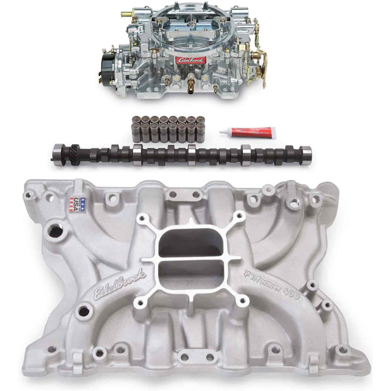 Carburetor Intake Manifold : Edelbrock pk performer power package intake manifold