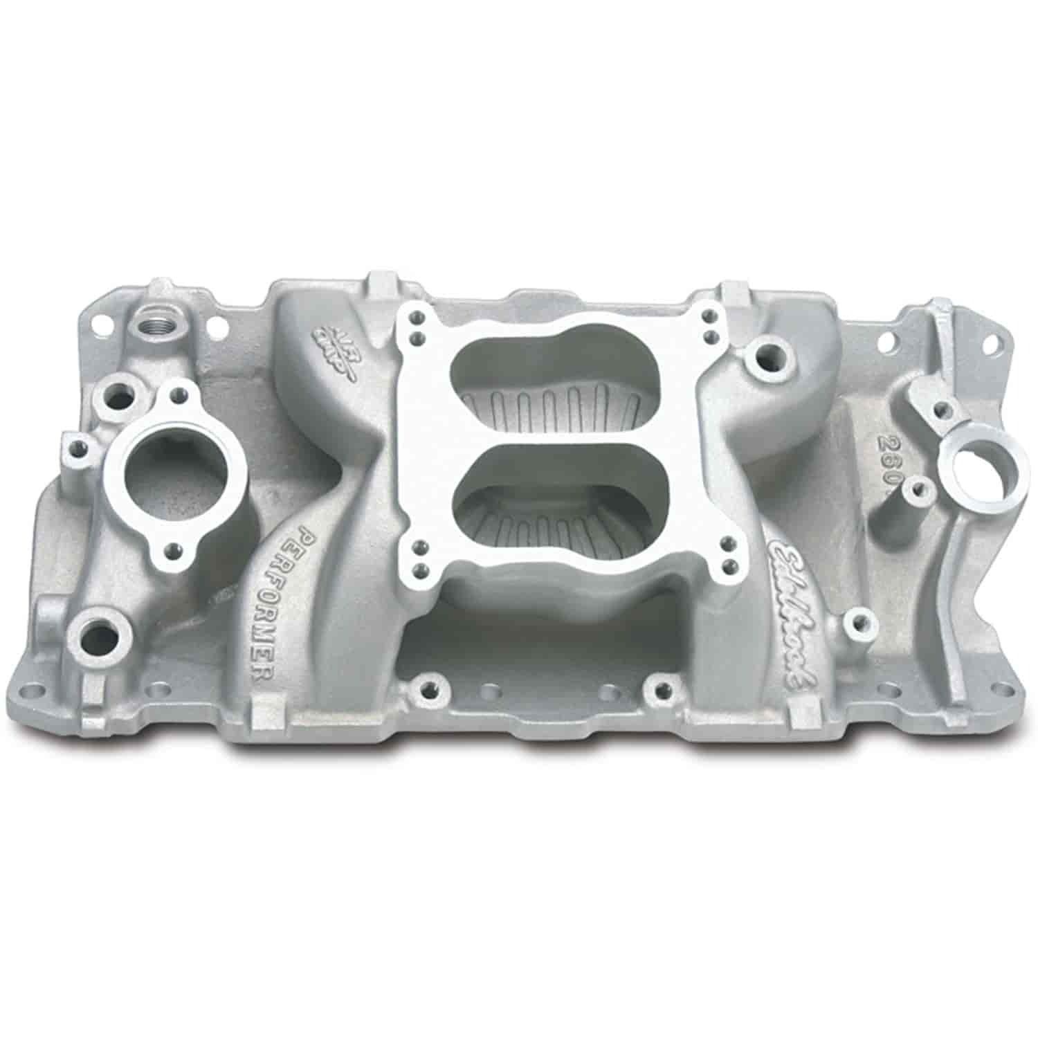 Edelbrock 2601 - Edelbrock Performer Air-Gap Intake Manifold for Chevy