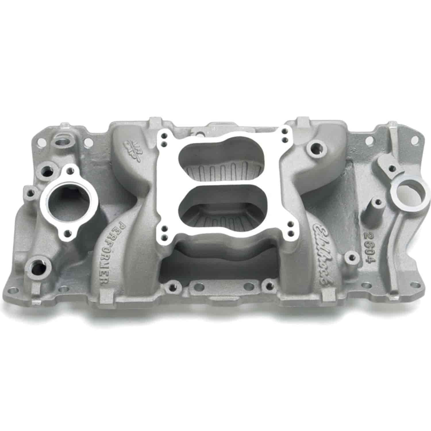 Edelbrock 2604 - Edelbrock Performer Air-Gap Intake Manifold for Chevy