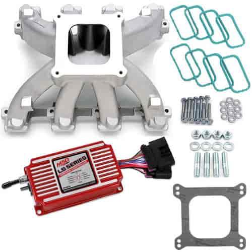 Edelbrock Super Victor LS Intake Manifold With MSD Kit LS3