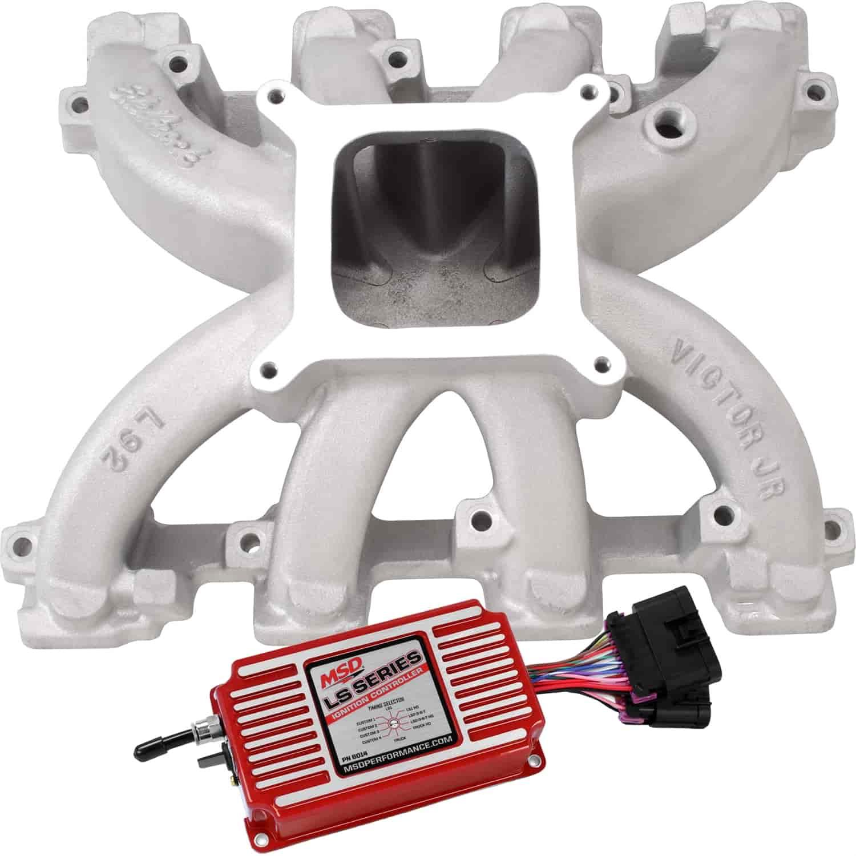 Edelbrock Victor Jr  LS Carb Intake Manifold Gen IV LS Engines with L76 L92  LS3 Heads
