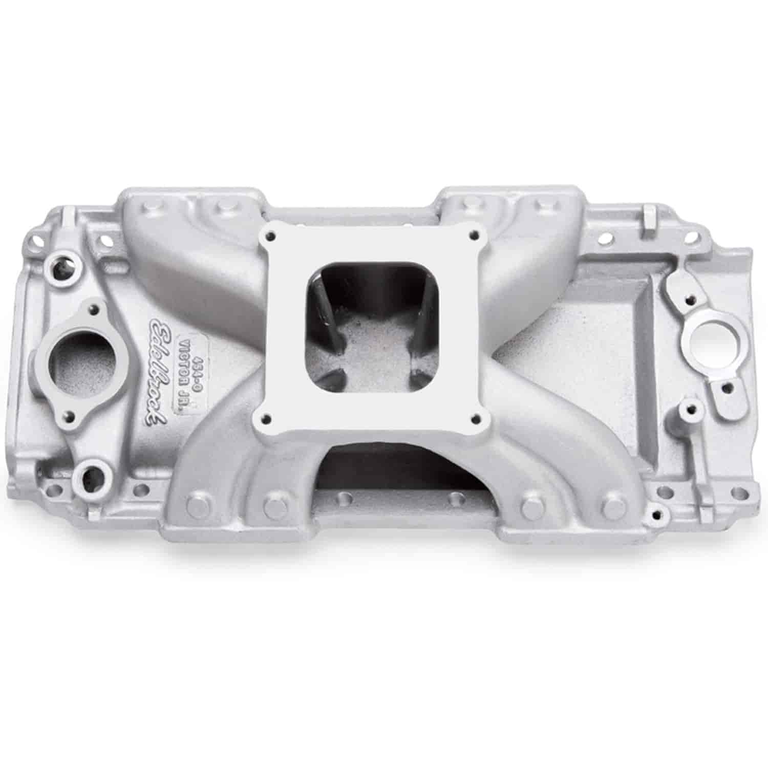 Edelbrock Victor Jr  454-O Intake Manifold Big Block Chevy with  1975-Earlier large oval port heads