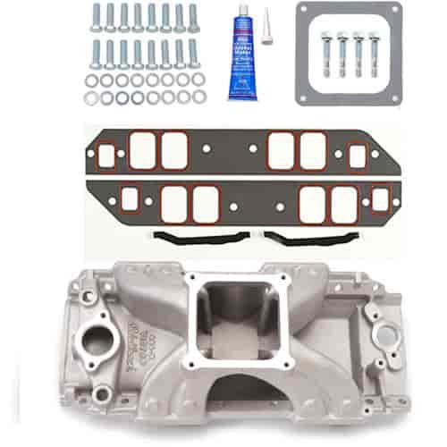 Edelbrock Victor 454-R Intake Manifold Kit Big Block Chevy with rectangular  port heads
