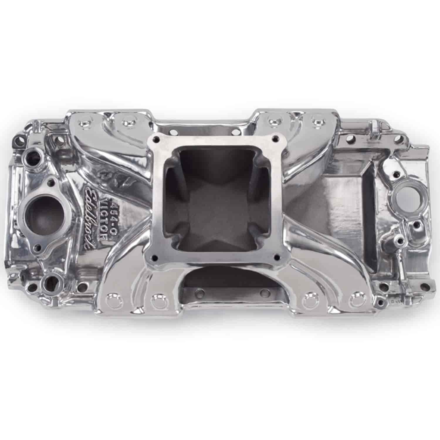Edelbrock Victor 454-O Intake Manifold Big Block Chevy with 1975-Earlier  large oval port heads