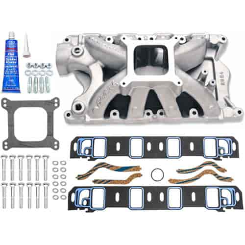 Edelbrock Super Victor 351w Ford Intake Manifold with Installation Kit