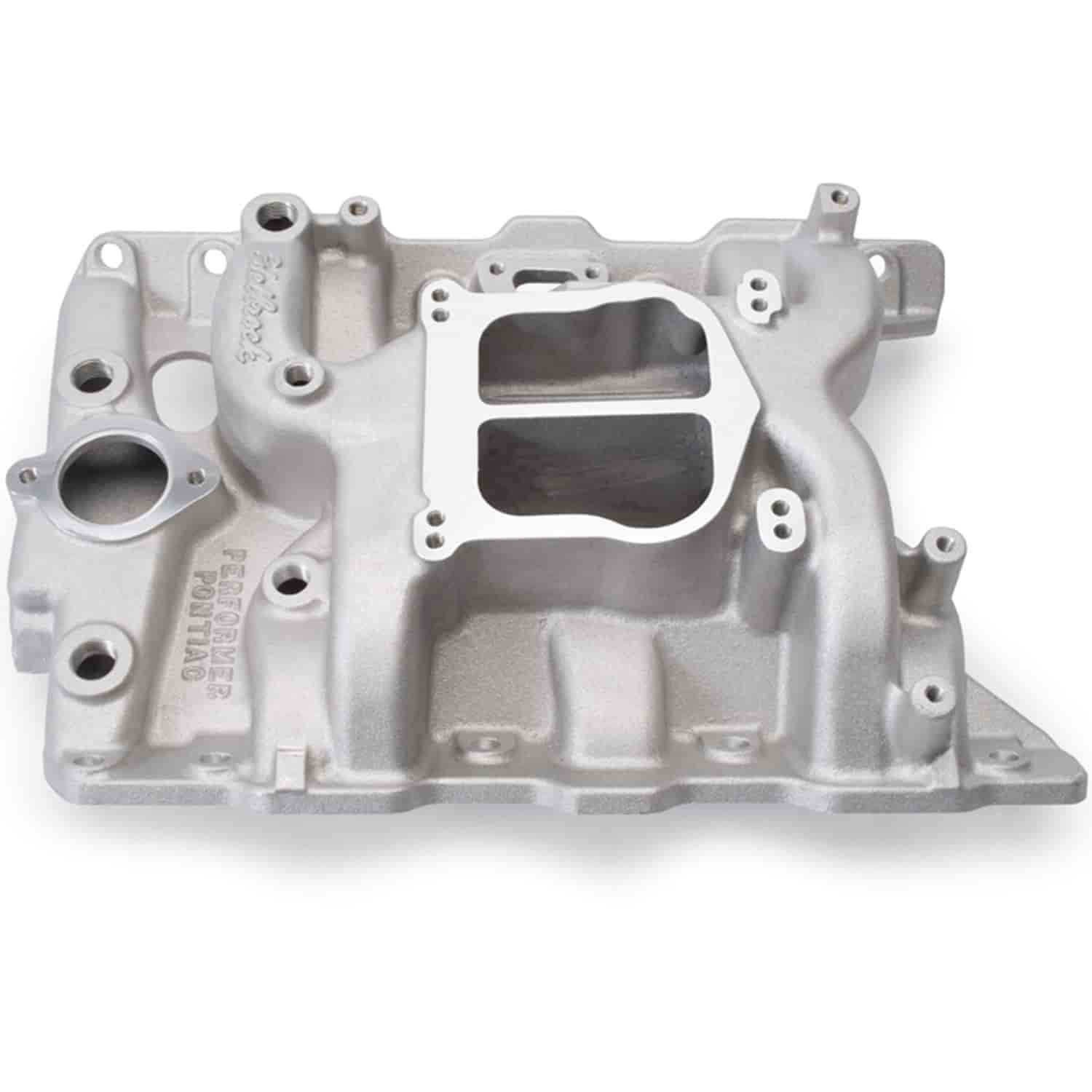 Edelbrock 3756 - Edelbrock Performer Manifolds for Pontiac