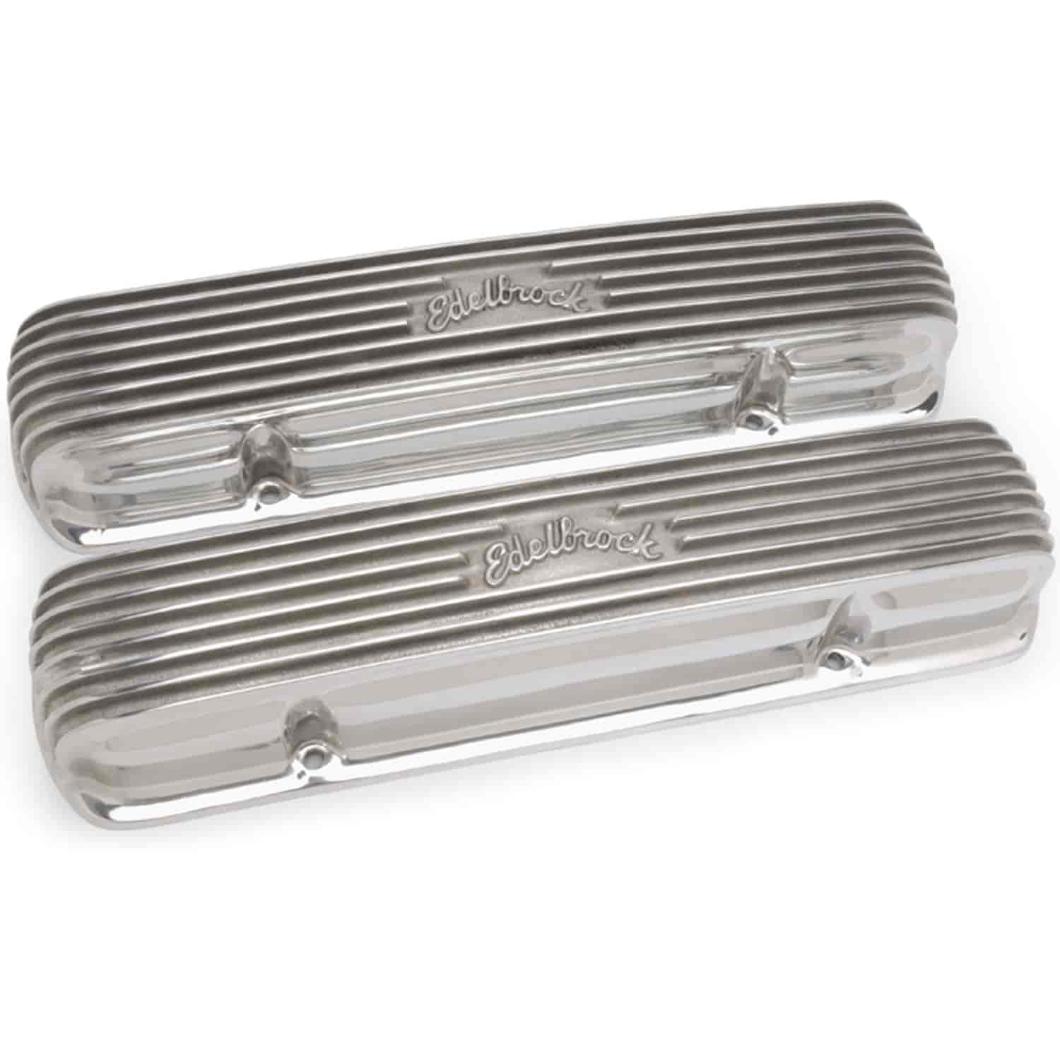 Edelbrock 4130 - Edelbrock Classic Series Valve Covers & Air Cleaners
