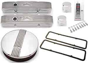 Edelbrock 4144K - Edelbrock Classic Series Valve Covers & Air Cleaners
