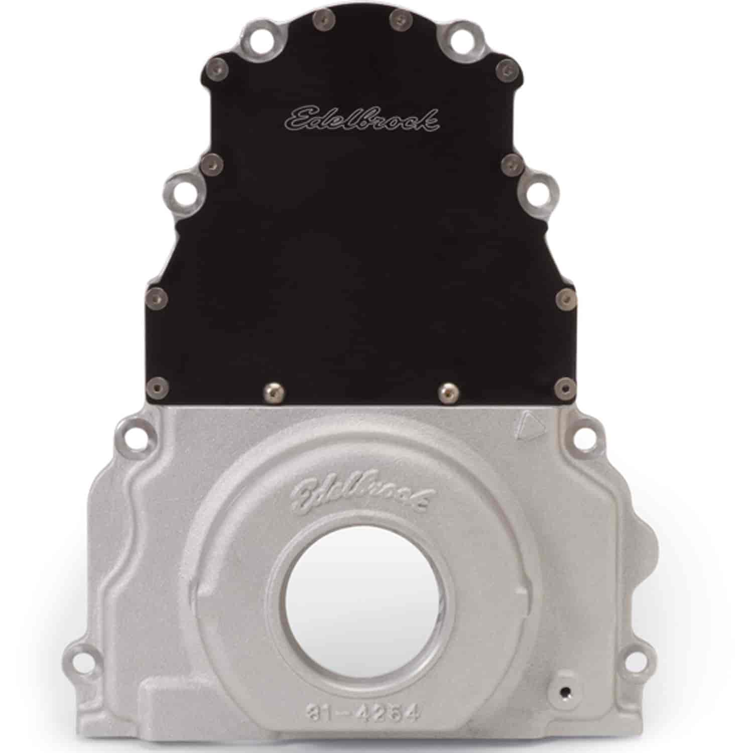 Edelbrock 4254 - Edelbrock 2-Piece LS Timing Cover