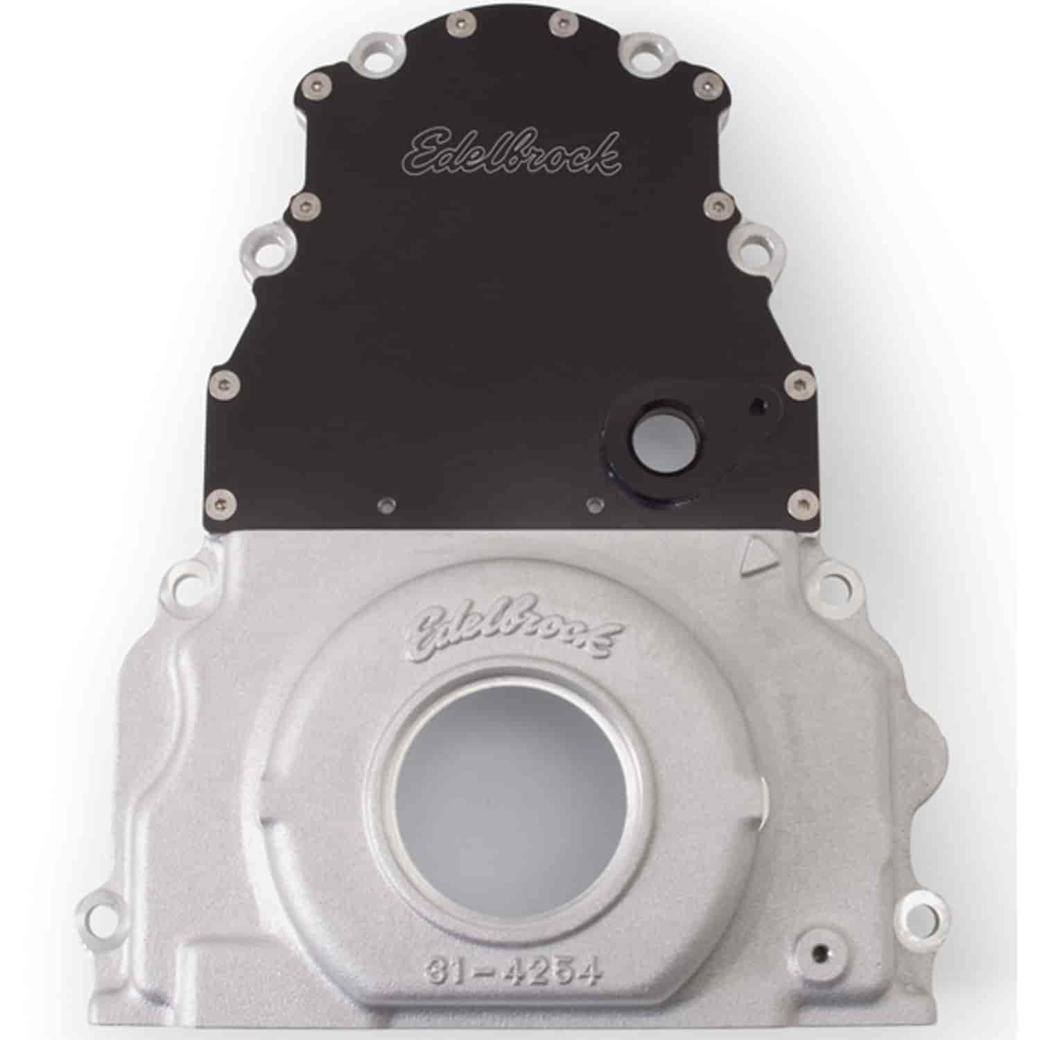 Edelbrock 4255 - Edelbrock 2-Piece LS Timing Cover