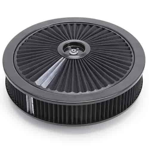 Edelbrock Air Cleaner : Edelbrock pro flo high flow black round air cleaner