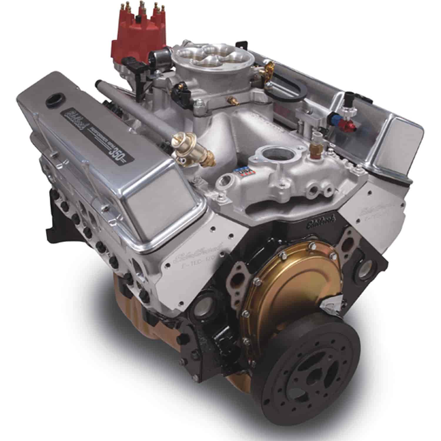 Edelbrock Performer RPM E-Tec Small Block Chevy 350ci / 440 hp Polished  Crate Engine with RPM Air-Gap Intake & Pro-Flo 3 EFI