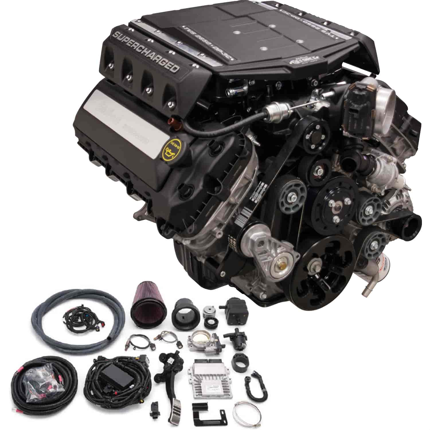 Edelbrock 46890 e force supercharged ford coyote 5 0l for Crate motors ford f150