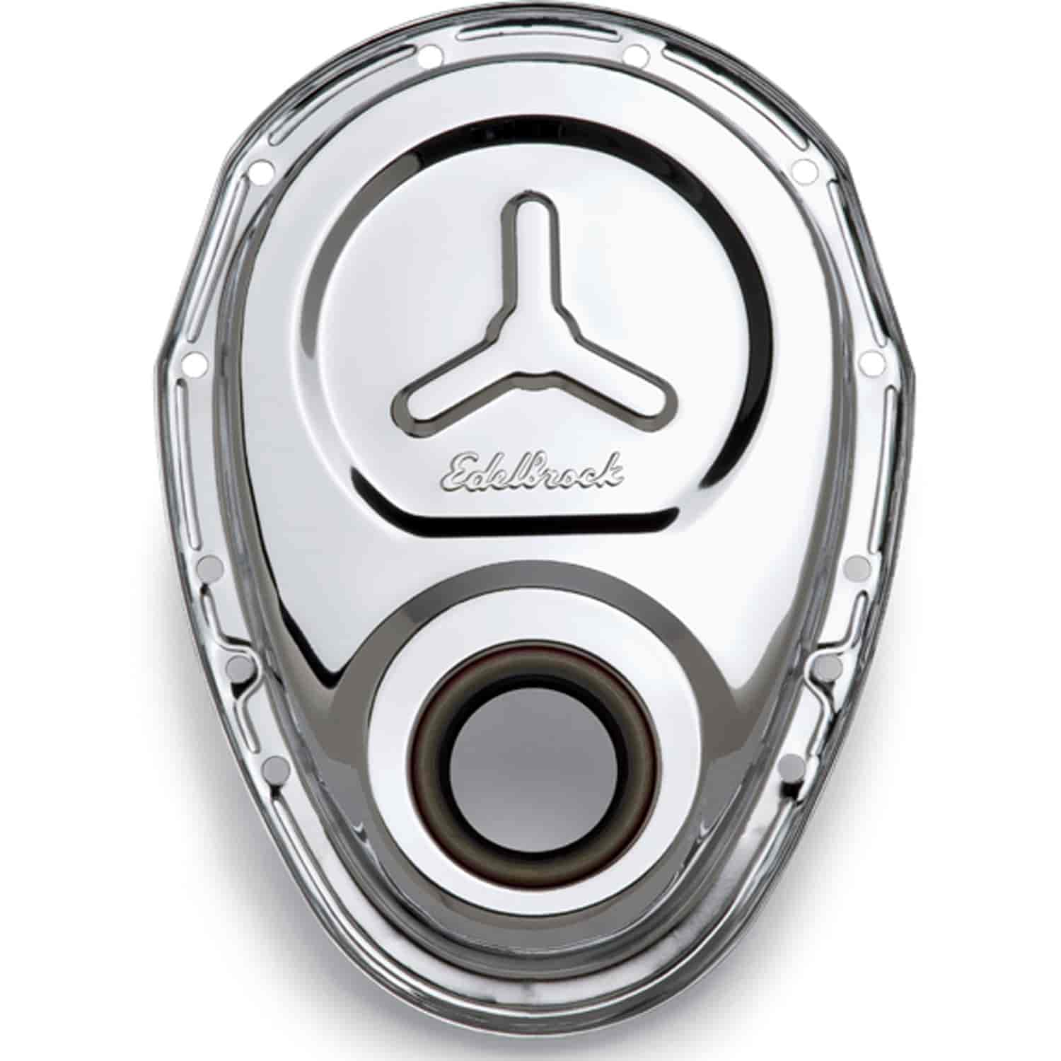 Edelbrock 4860 - Edelbrock Chrome Timing Chain Cover