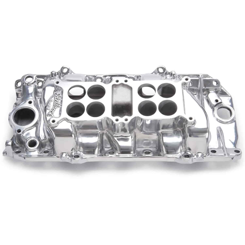 Edelbrock 54201 Performer Intake Manifold ; Dual Quad