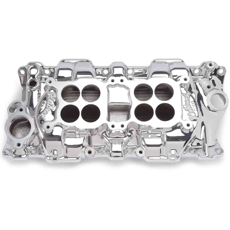 Edelbrock Performer Intake Manifold Dual Quad, 1500-5500 rpm, Endurashine  Finish