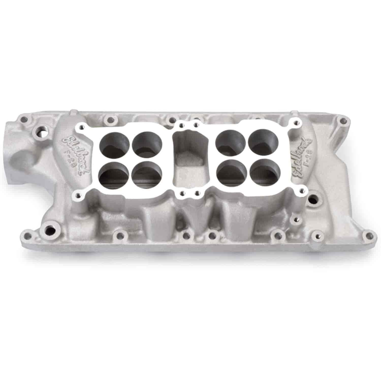 Edelbrock 5435: F-28 Dual Quad Intake Manifold Small Block