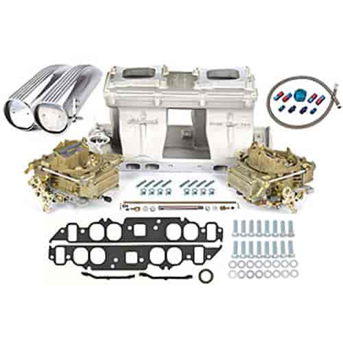 Edelbrock 7115K2 - Edelbrock/Holley/Weiand Tunnel Ram Carb & Intake Kits