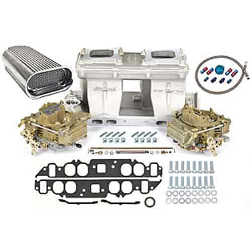 Edelbrock 7115K3 - Edelbrock/Holley/Weiand Tunnel Ram Carb & Intake Kits