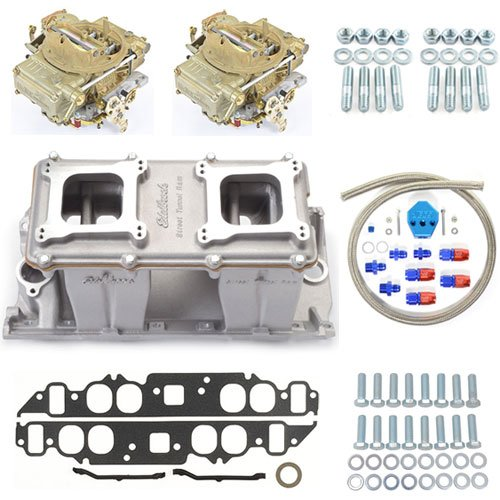 Edelbrock 7115K - Edelbrock/Holley/Weiand Tunnel Ram Carb & Intake Kits