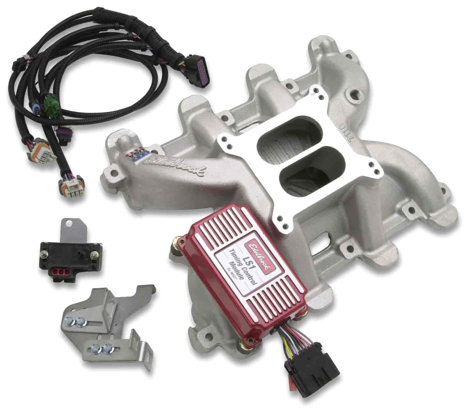 350 7118 edelbrock 7118 performer rpm ls1 intake manifold and timing kit  at edmiracle.co