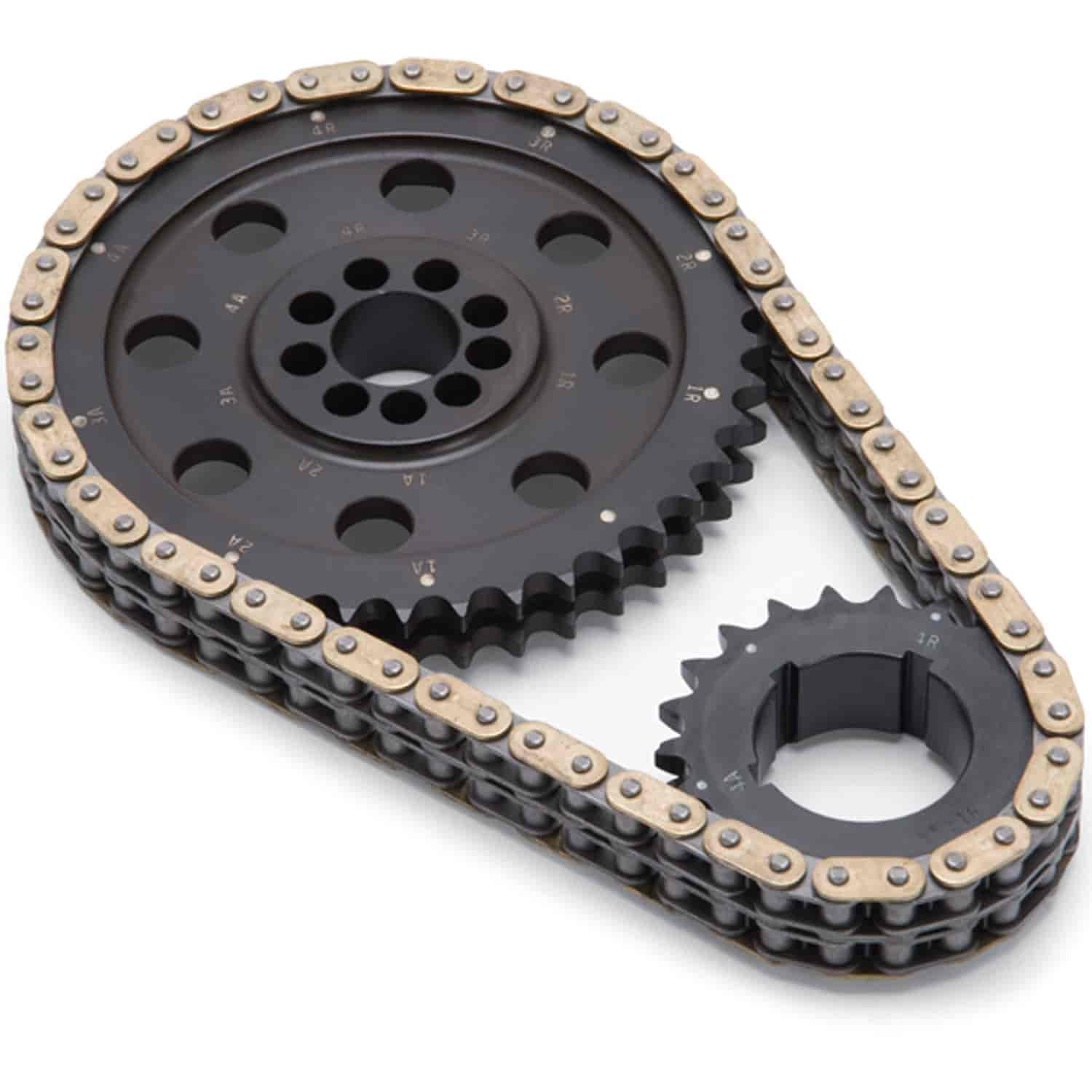 Edelbrock 7335 - Edelbrock Hex-A-Just Timing Chain Set