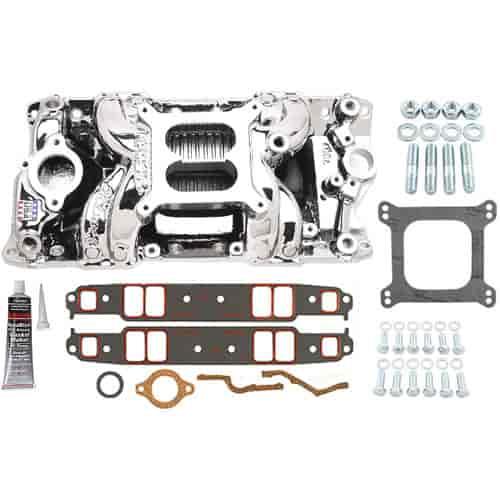 Edelbrock 75014k rpm air gap intake manifold kit includes for Gap 75014