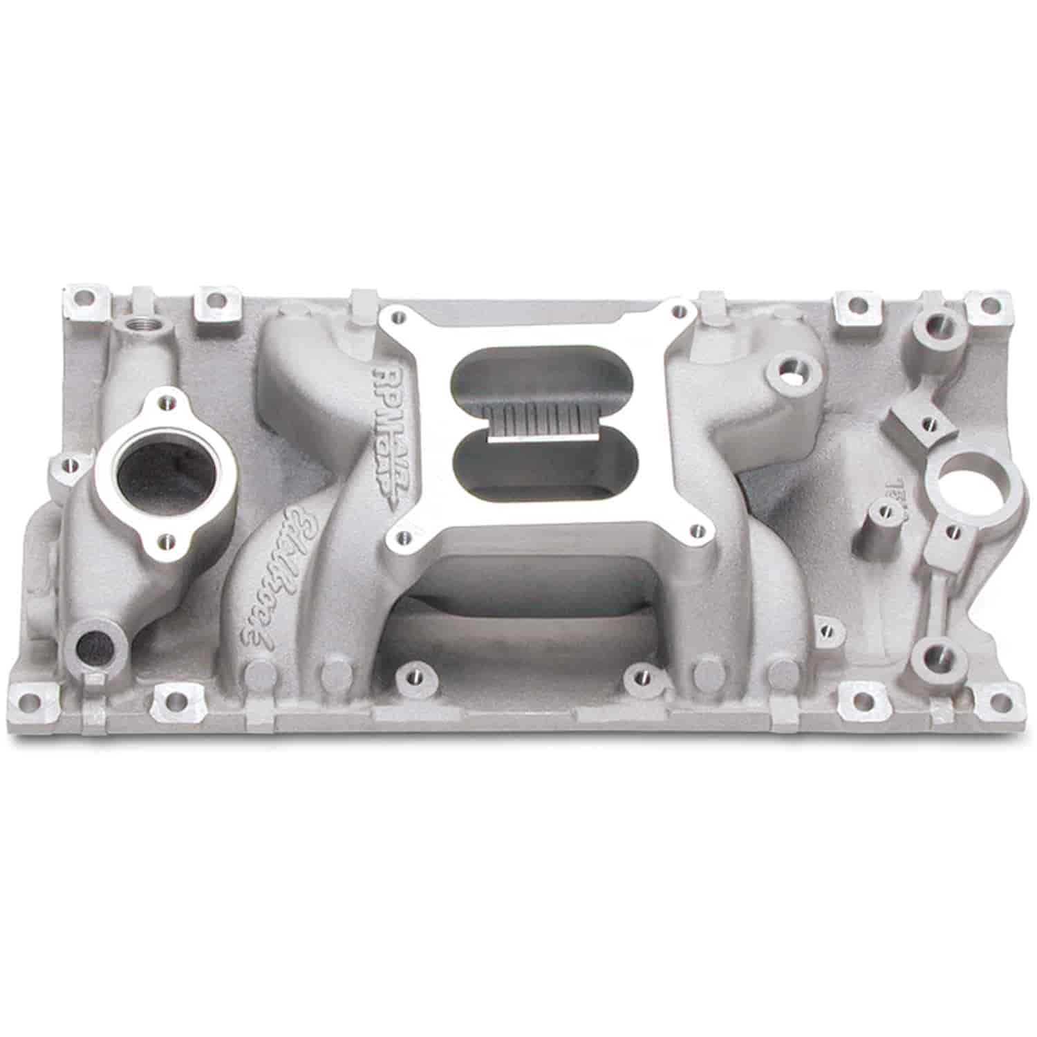 Edelbrock 7516 Rpm Air Gap Vortec Intake Manifold For Sbc With 350 Engine Diagram
