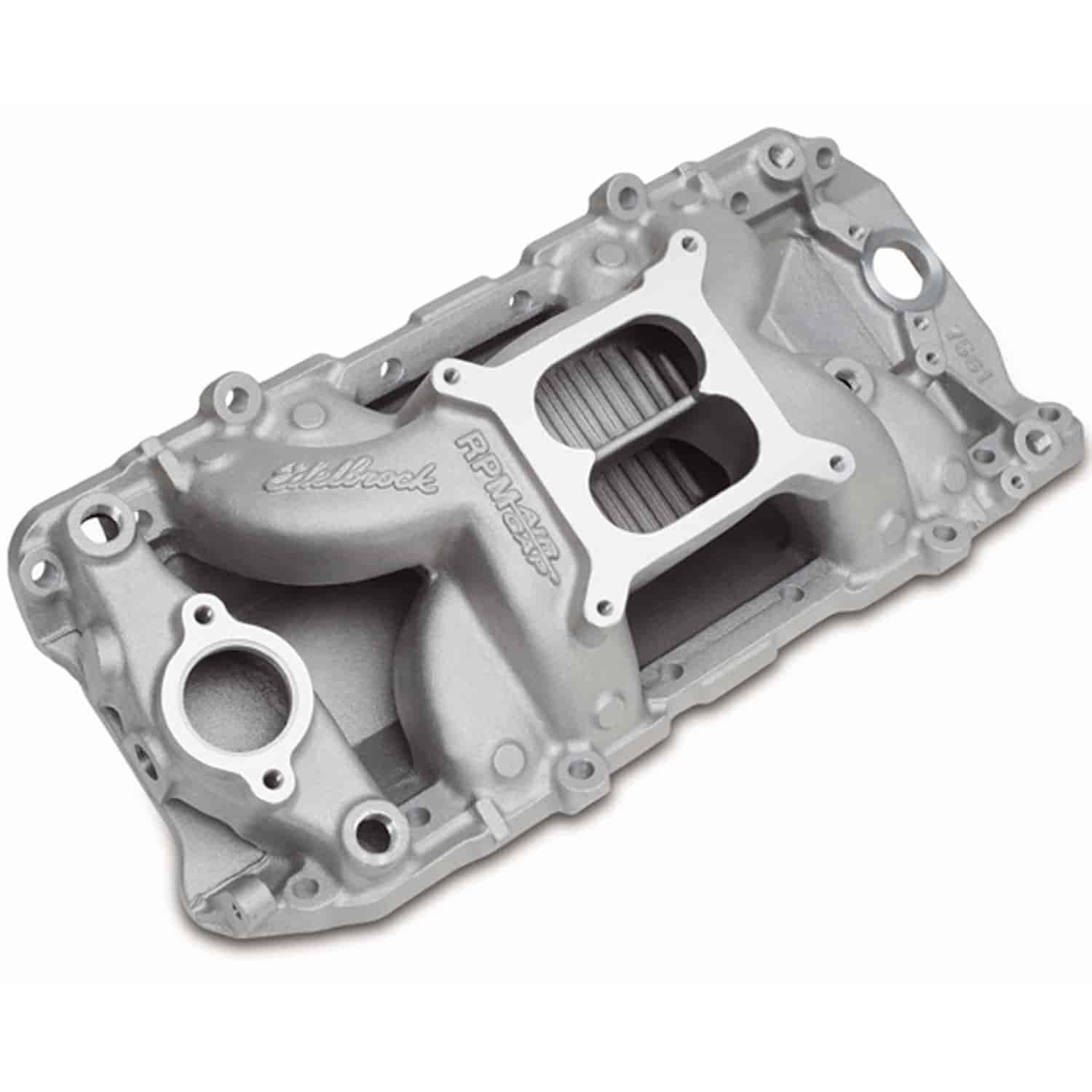 Edelbrock 7561 Rpm Air Gap 2 O Intake Manifold Bb Chevy 396 502 196567 Power Steering Pump Corvette Parts And Accessories