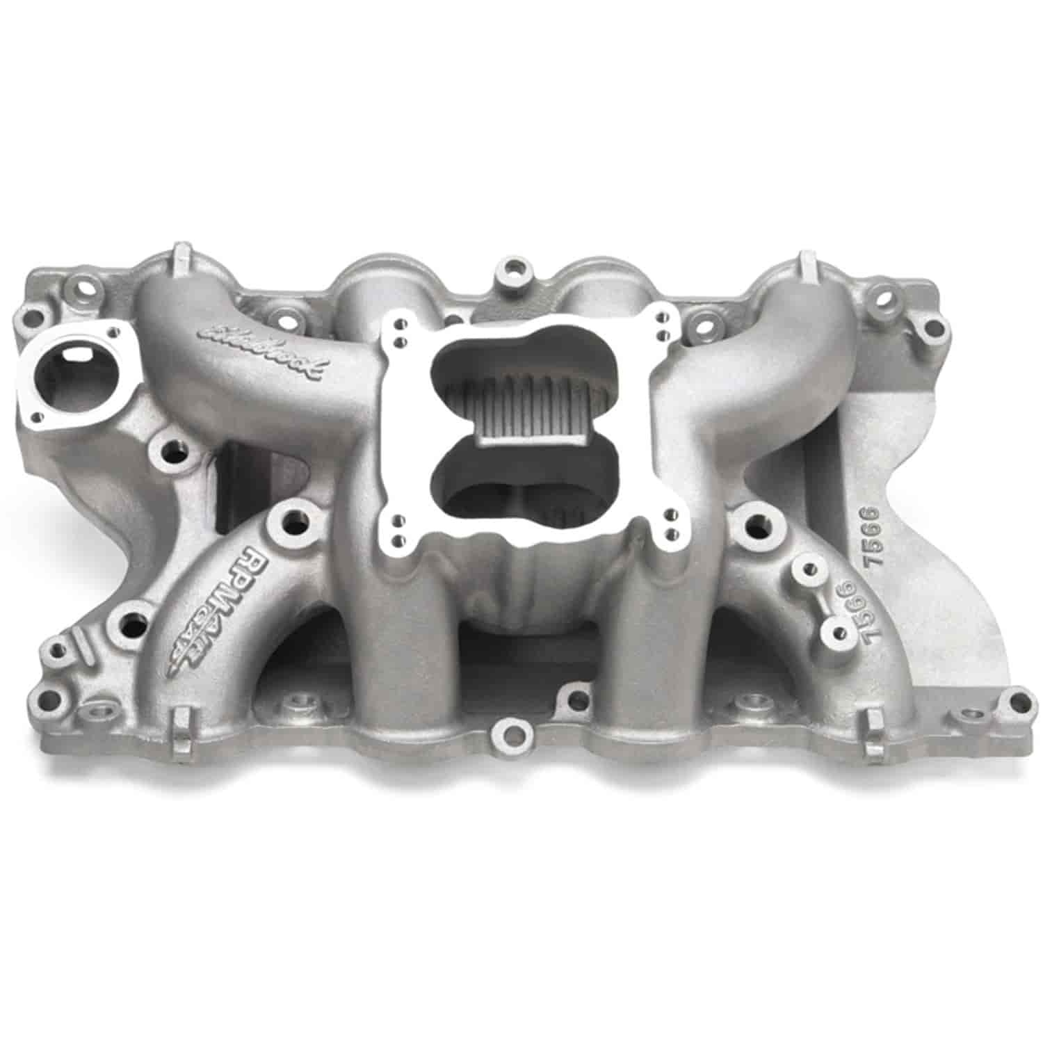 Edelbrock 7566 Rpm Air Gap 460 Ford Intake Manifold Jegs Timing A Engine