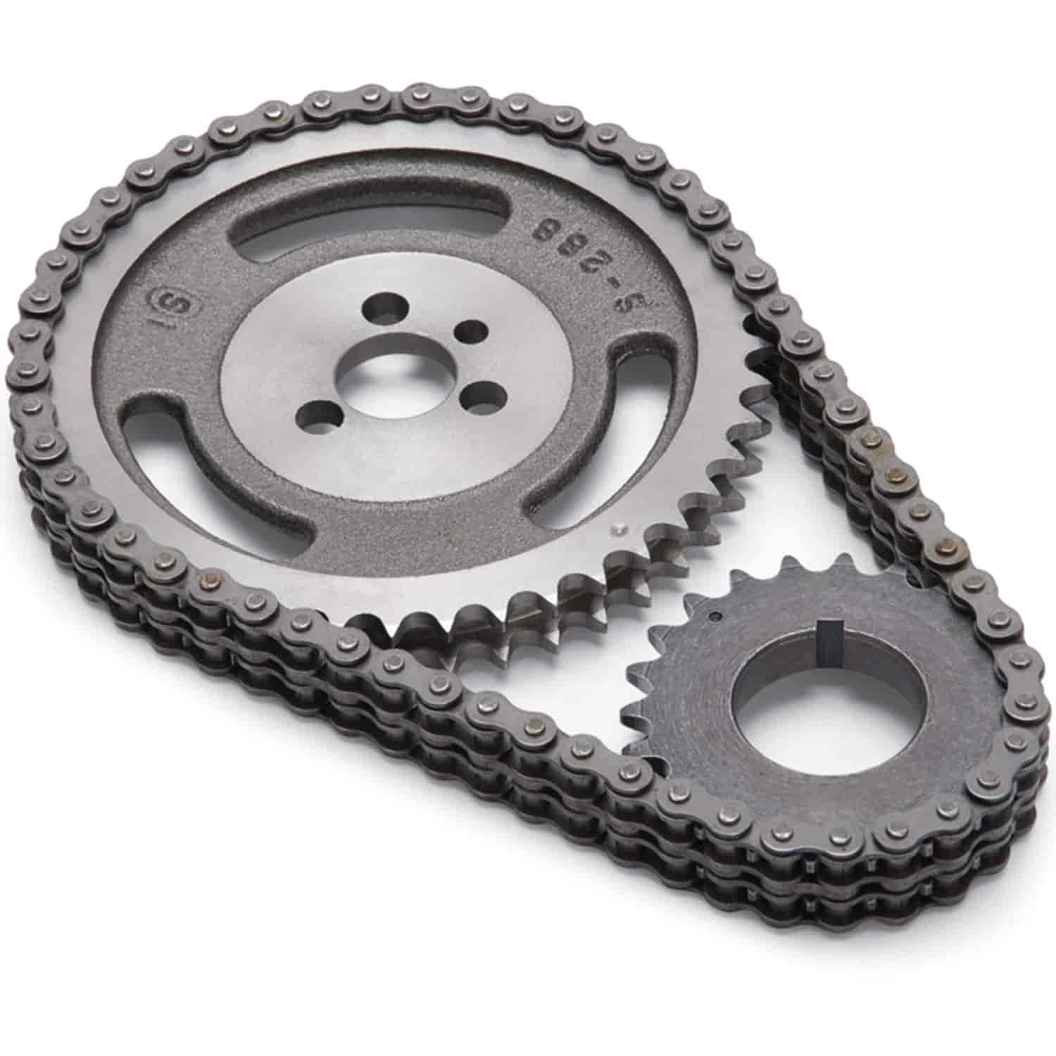 Edelbrock Stock Replacement Performer-Link Timing Chain Set for 1955-95  Small Block Chevy and Chevy 4 3L V6