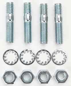 Set of 4 Milodon 81450 5//16 x 1-1//2 Carburetor Stud Kit for 1//2 Thick Flange Carburetors,