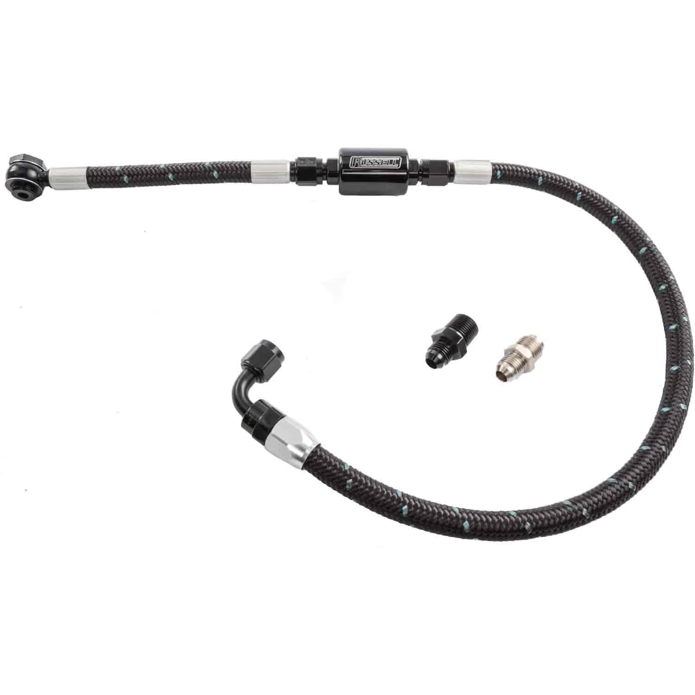 Edelbrock 8103 Proclassic Black Fuel Hose Kit Pump To Russell Filters