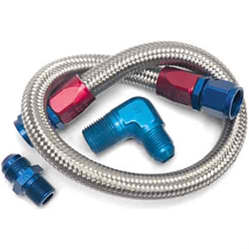 Edelbrock 8122 - Edelbrock Braided Fuel Line Kits