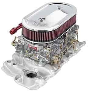 Edelbrock 5425K - Edelbrock Low-Profile Intake Kits with Dual Quad Carburetors