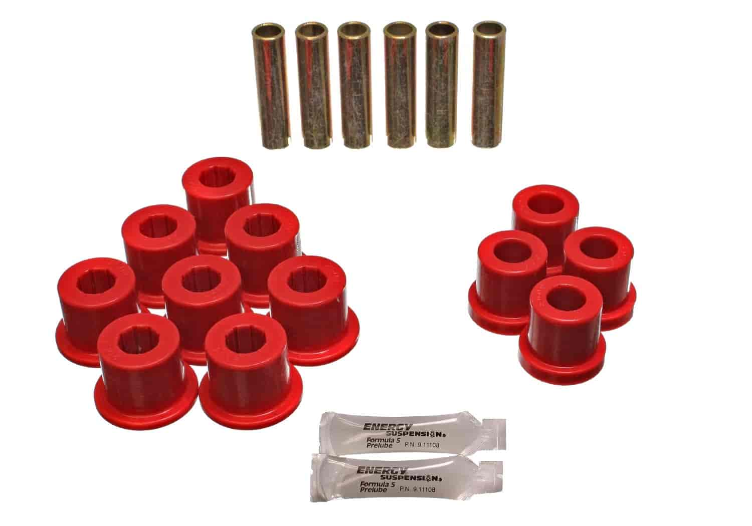 Energy Suspension 3-2108R - Energy Suspension Front & Rear Leaf Spring Bushings
